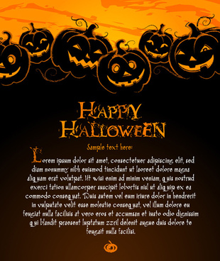 happy halloween night background vector set