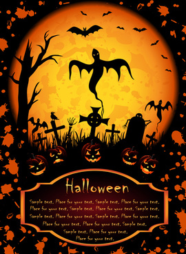 happy halloween night background vector set