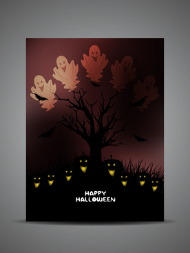 happy halloween vector background