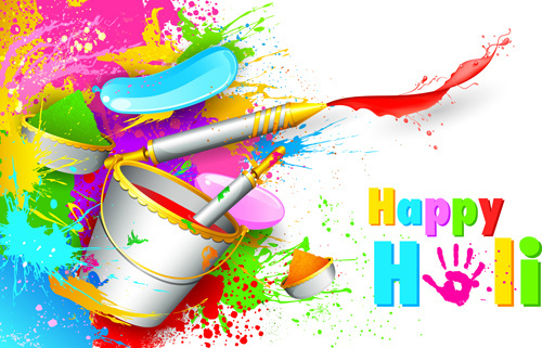 happy holi paints backgrounds