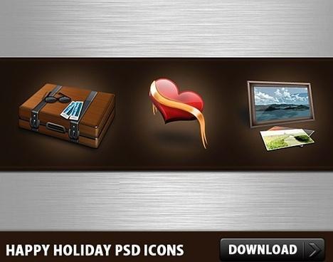Happy Holidays Free PSD Icons