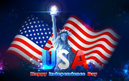happy independence day design vectors