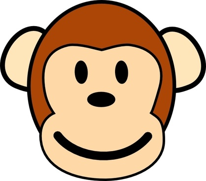 Happy Monkey clip art