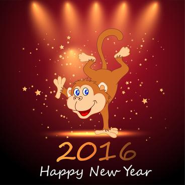happy monkey year 2016