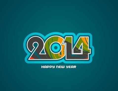 happy new year14 background creative design
