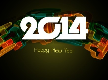 happy new year14 background creative design
