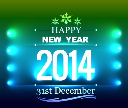 happy new year14 vector background