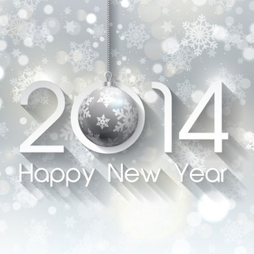happy new year14 winter background vector