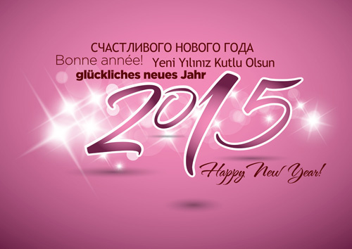 happy new year15 vectors