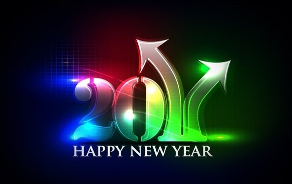 Happy New Year 2011 eps Vector part02