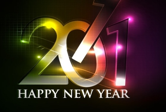 happy new year 2011 eps Vector part04