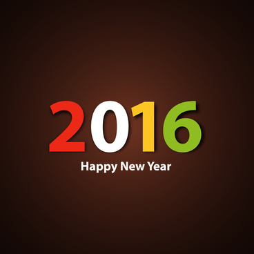 happy new year 2016 colorful background