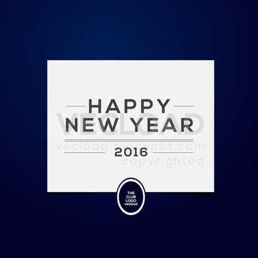 happy new year 2016 vector made you day