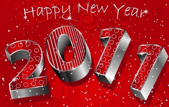 happy new year 3D 2011