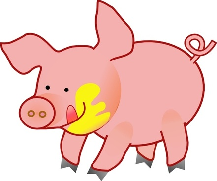 Happy Pig clip art