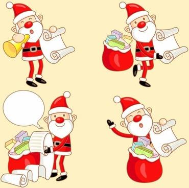 Happy Santa Claus Vector illustration
