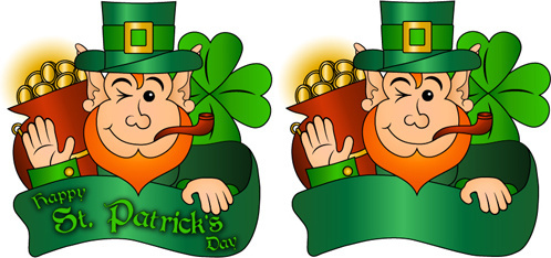 happy st patricks day vector set