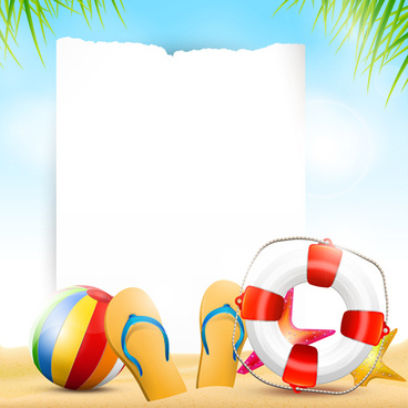 Happy Summer Holidays Elements Vector Background