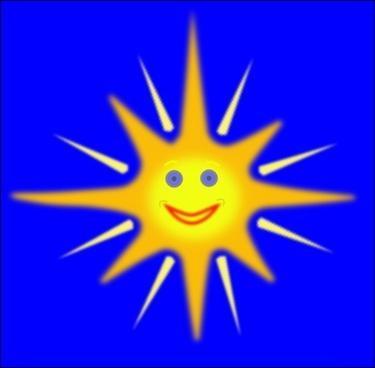 Happy Sun clip art
