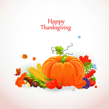 happy thanksgiving background design vector
