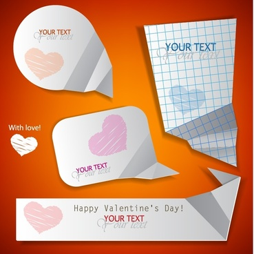 happy valentine39s day love silhouette vector dialog
