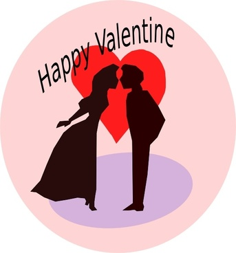 Happy Valentine clip art