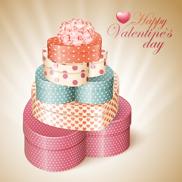 happy valentine day cards design elements vector
