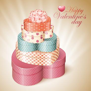 happy valentine day cards design elements vector