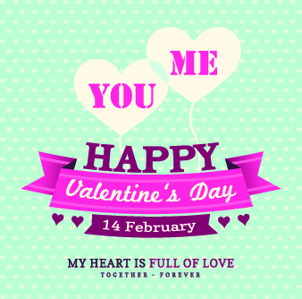 happy valentines day background vintage style vector