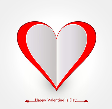happy valentines day card for heart design vector illustration