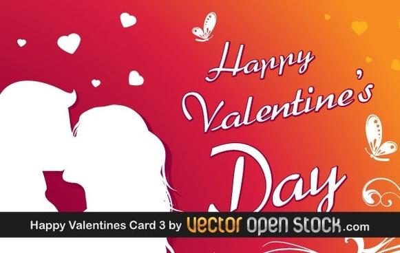 Happy Valentine's day greeting card 3