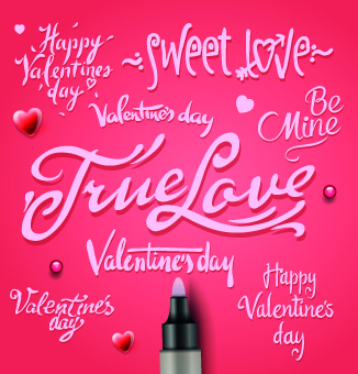 Happy Valentine Day Text Free Vector Download 12 520 Free Vector
