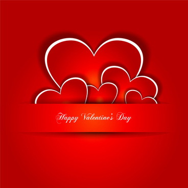 happy valentines hearts illustration vector