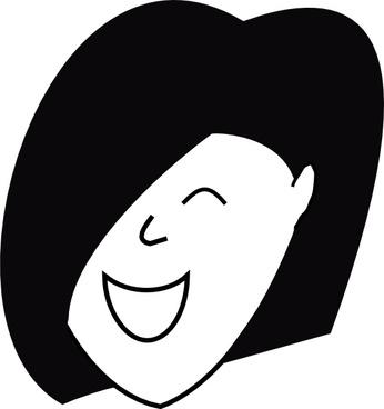 Happy Woman clip art