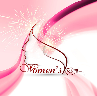 happy womens day colorful card or background vector design