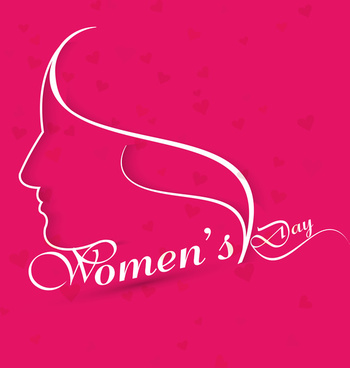 happy womens day for lady face card design vector
