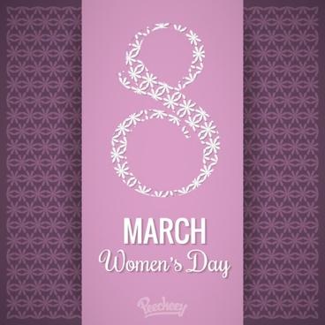 happy womens day purple background