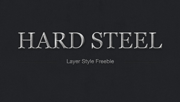 Hard Steel Layer Style