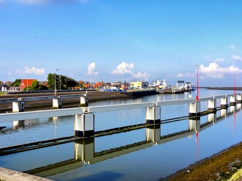 harlingen the netherlands canal