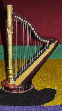 harp plucked string instrument fig