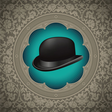 hat background free vector