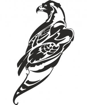hawk vector art free vector