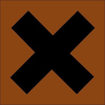 Hazard X Bronze clip art