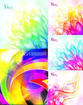 hazy background color design vector