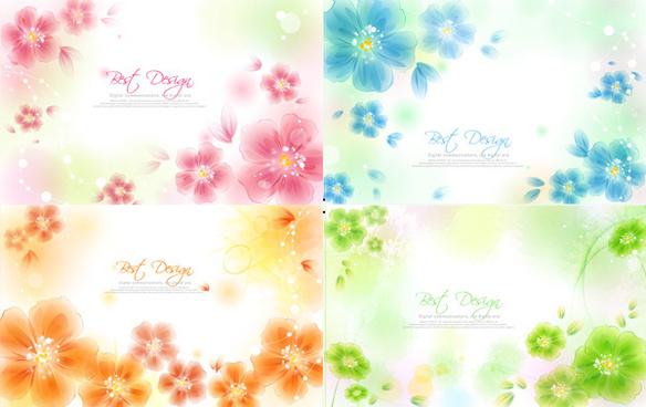 hazy flower background vector
