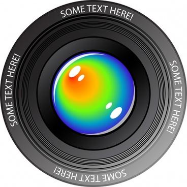hd camera lens vector
