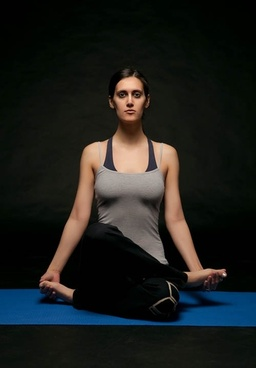 hd foreign women doing yoga stock photo
