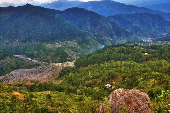 hdr version sagada terraces