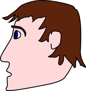 Head Man Side clip art