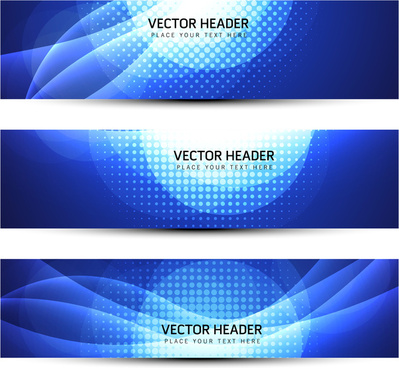 header banner blue abstract background
